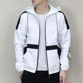 Adidas NEO 2018春季男子防风衣 夹克休闲连帽外套 CZ1770