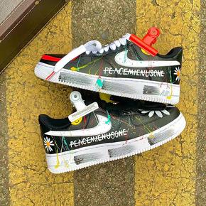 【球鞋定制】Nike Air Force 1 AF1系列 权志龙涂鸦定制球鞋(普通鞋盒)