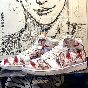 【球鞋定制】Air Jordan 1 AJ1系列 限定款!纯白MID 灌篮高手彩色定制球鞋