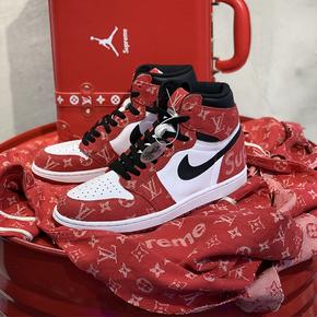 【球鞋定制】Air Jordan 1 AJ1系列 LVsup缝制芝加哥配色定制球鞋(普通鞋盒)