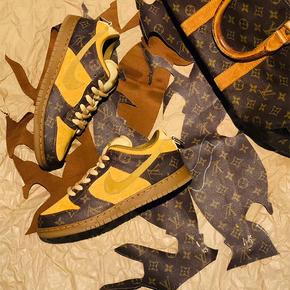 【球鞋定制】Nike SBdunk系列 SBdunk小麦lv定制板鞋