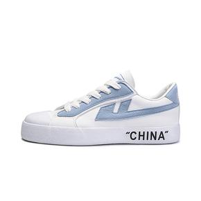 """Warrior/回力 """"CHINA""""白蓝休闲帆布鞋"""