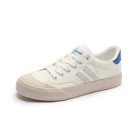 Warrior/回力 2021春季新款ulzzang 米白蓝 帆布鞋
