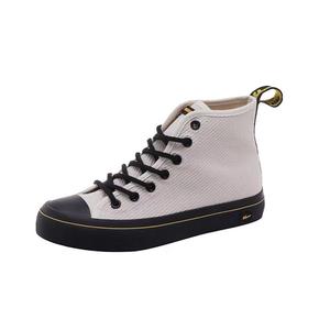 Warrior/回力 斜纹米色高帮帆布鞋
