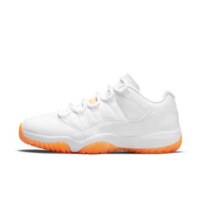 """预售!Air Jordan 11 Low """"Bright Citrus"""" 白橘 女款低帮篮球鞋 AH7860-139(2021.5.6发售)"""