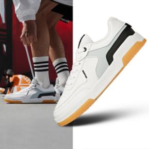 Anta/安踏 男板鞋2021夏季新款潮流透气运动鞋子休闲鞋小白鞋