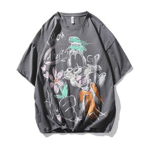 JOESPIRIT 2021春夏新款 手工喷绘 情侣T恤 男士短袖T恤 圆领T恤 圆领套头短袖T恤 男士T恤 PHT021