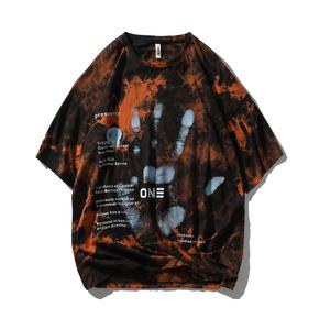 JOESPIRIT 2021春夏新款 手工喷绘 情侣T恤 男士短袖T恤 圆领T恤 圆领套头短袖T恤 男士T恤 ZRT002