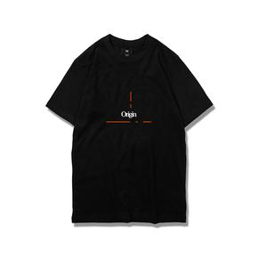 NL23HOOD Wiki Tee 地球百科 黑色纯黑黑橙 运动短袖 Oversize