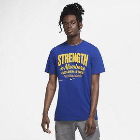 NIKE耐克勇士队球迷版男子篮球速干运动短袖T恤 CK8806-495