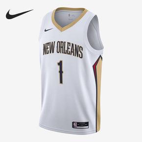 Nike/耐克正品2020赛季新奥尔良鹈鹕队NBA SW男子球衣 CW3601-107
