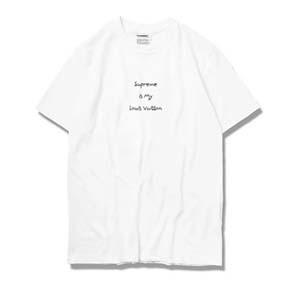 NL23HOOD Supreme Logo 联名恶搞 Tee 短袖 纯白 白色