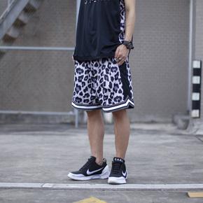 DMNX 豹纹双面穿短裤