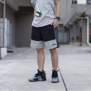 DMNX 反光条拼接短裤