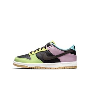 "Nike Dunk Low SE ""Free.99""不对称鸳鸯 反转多彩拼接 黑绿紫 CZ2496-001"