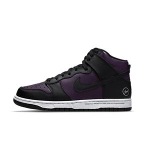 "Fragment design x Nike Dunk High ""Beijing"" 藤原浩 北京 黑紫篮球鞋 DJ0382-600"