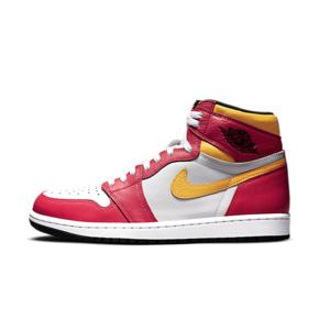 """Air Jordan 1 High OG """"Light Fusion Red"""" 白粉黄 亡灵节高帮 555088-603"""