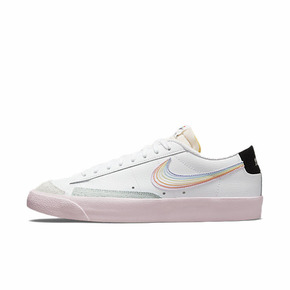 Nike Blazer Low 白粉 彩虹 休闲运动板鞋 DD3034-100
