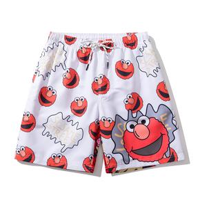 JOESPIRIT 男士timeforthebeach 个性印花 时髦度假风 欧美 Hawaii风 休闲运动短裤 沙滩裤 STK101004