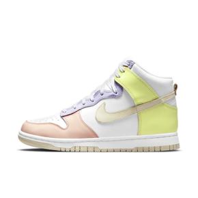 "Nike Dunk High ""Lemon Twist""白绿粉 女款拼接高帮 DD1869-108"