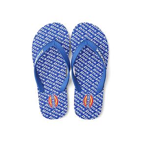 Dickies 白色字母logo印花沙滩休闲拖鞋 蓝色