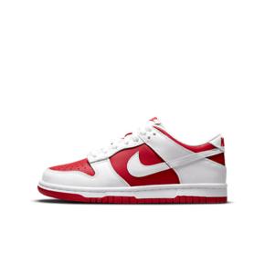 "Nike Dunk Low ""University Red""(GS)白红 女款低帮休闲板鞋 CW1590-600"