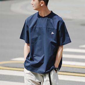 SENDAWAY宽松刺绣T恤男 纯棉圆领体恤半袖夏季短袖潮牌国潮文艺