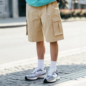SENDAWAY 卡工装短裤日系五分裤宽松休闲潮流夏季潮牌百搭外穿