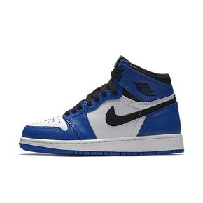 Air Jordan 1 OG AJ1 GS 藤原浩 小闪电黑蓝女鞋 575441-403
