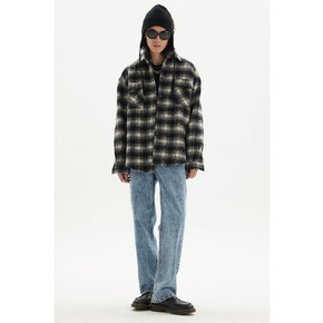 MRGS 21fw 黑白毛呢格纹外套