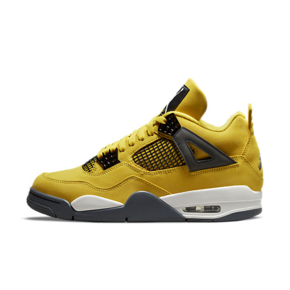 "Air Jordan 4 ""Lightning"" 电母 黑黄篮球鞋 CT8527-700"