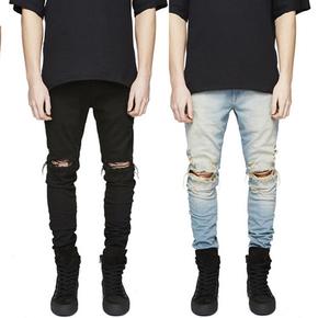 JOESPIRIT春夏 复古水洗 破洞 个性设计男式牛仔裤K16