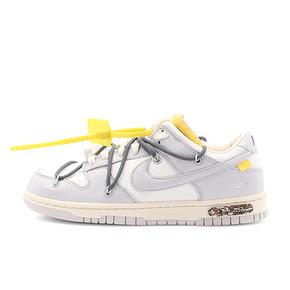 "OFF-WHITE x Nike Dunk Low ""The 50""灰白 NO.41 灰色鞋带蓝色扣子 DM1602-105"
