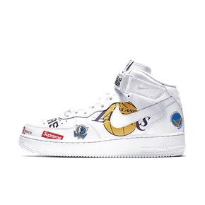 Supreme x NBA x Nike Air Force 1 AF1 联名板鞋白色 AQ8017-100
