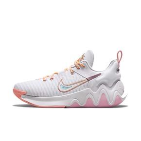 Nike耐克字母哥 浅粉灰防滑缓震回弹实战球鞋 DH4528-500