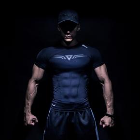 Monster Guardians MSGD终极科技系列隐黑科技健身短袖压缩衣紧身 (21)251630 A03003