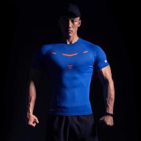 Monster Guardians ULTIMATE TECH 终极科技系列男子蓝色运动健身紧身短袖 (21)251730 A03004