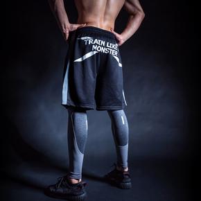 Monster Guardians MG终极科技系列拼接透气运动健身综合训练短裤 (21)251630 A93003