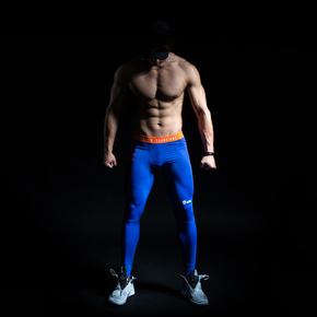 特价!Monster Guardians ULTIMATE TECH 终极科技系列男子蓝色运动健身紧身裤(21)251730 A98009