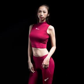 Monster Guardians 终极科技系列女子酒红运动时尚紧身衣健身衣(21)251730 B01002