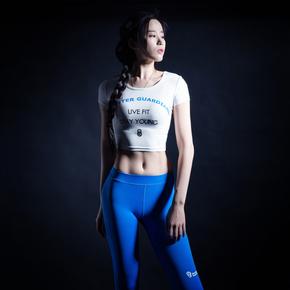 Monster Guardians MG终极科技系列女子运动健身露脐紧身衣(21)251630 B03002