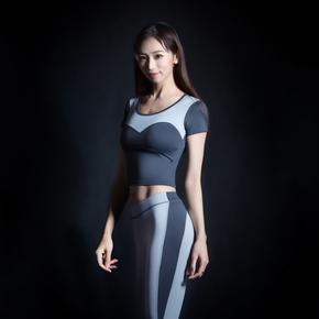 Monster Guardians ULTIMATE TECH 终极科技系列女子运动健身紧身露脐短袖(21)251730 B03003