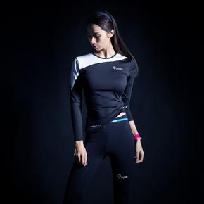 Monster Guardians ULTIMATE TECH 终极科技系列女子运动健身白色拼接紧身衣(21)251730 B09002