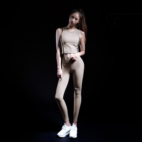 Monster Guardians ULTIMATE TECH 终极科技系列女子运动健身卡其色紧身裤(21)251730 B98009