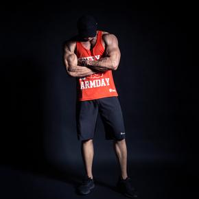 Monster Guardians MOTIVATED TANK 激励系列健身运动背心(橘红款)(21)251740 A00008