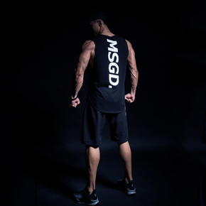 Monster Guardians MSGD专业运动健身训练无袖背心圆弧潮流剪裁(21)251740 A00009