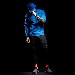 Monster Guardians 勇士系列秋冬运动未来蓝色拼接套头卫衣(21)251770 A08012