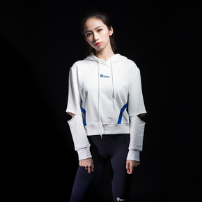 Monster Guardians 恣意系列女子春季健身运动卫衣白色套头衫(21)251850 B08004