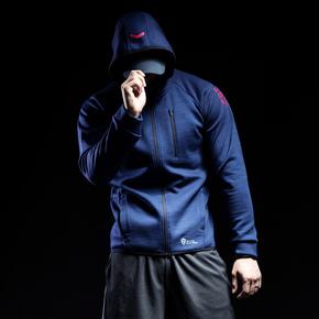 Monster Guardians 勇士系列秋冬运动极夜蓝开襟连帽卫衣(21)251770 A08013