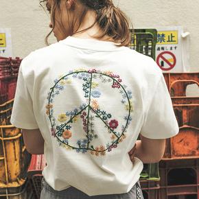 PRAGMATY 反战印绣花短袖 420017